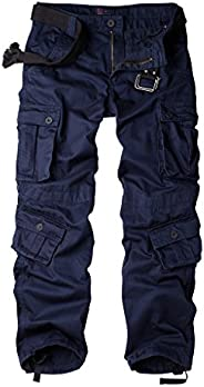 AKARMY Must Way Men's Cotton Casual Military Army Cargo Camo Combat Work Pants with 8 Po