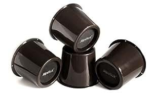 Slipstick Cb6527,6cm de rangement sous lit rehausseurs de lit/rehausseurs de meuble, ajoute 7,6cm Hauteur (lot de 4Lit Soulève) Prend en charge 907,2kilogram, noir, CB652