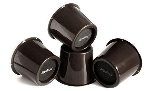 Slipstick CB652Lot de 4 rehausseurs de lit ou de meuble 7,6cm de hauteur Charge de 907,2kg, noir, CB652