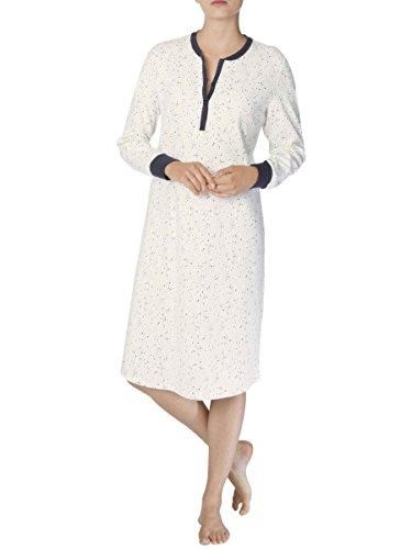 Calida Damen Nachthemd Sally Star White