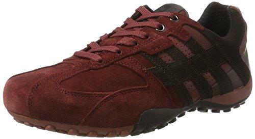Geox Uomo Snake K, Zapatillas para Hombre, Rojo (Dk Burgundy/Dk Coffe), 39 EU