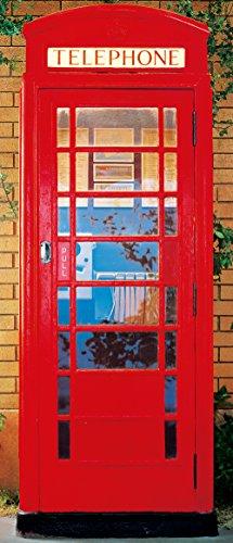 Murale per porta Telephone Box carta da parati, murale per porta, grande formato, 86x200 (Box Parati)