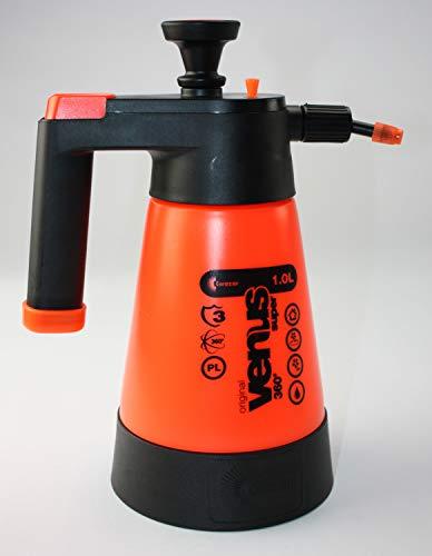 Zentimex Z3228725 Drucksprüher 360° Garten orange 1L KWAZAR Venus + Leerkanister 5Liter