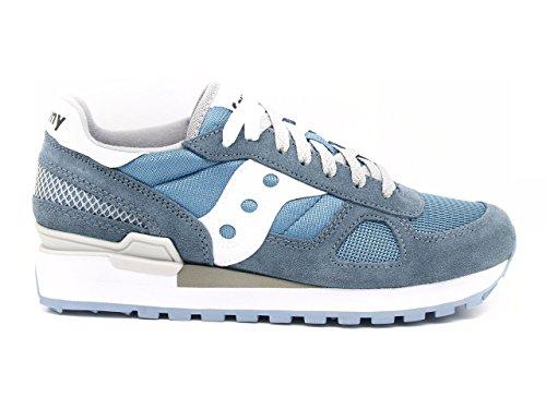 SAUCONY S1108-678 SHADOW ORIGINAL azzurro bianco scarpe donna sneakers Blu
