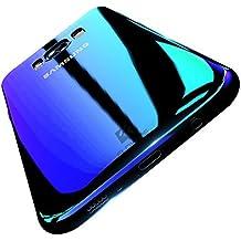 Coque Samsung Galaxy A3 2016 FLOVEME Étui Placage en PC Rigide Housse avec Couleur Dégradé Ultra-mince de Protection pour Samsung Galaxy A3 (2016) - Bleu