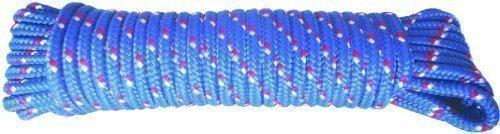 MASTERP Nylon Universalseil (10 Meter 6mm stark, blaues Spannseil, extra leicht, trägt bis zu 50Kg) -