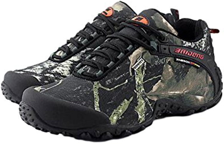 Zapatos De Trekking Hombres Impermeables De Cuero Ligero Zapatos De Exterior Low-Cut Camuflaje Resistente Al Desgaste