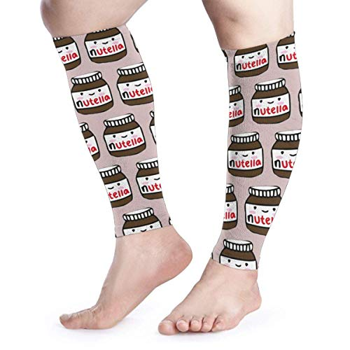 Delicious Nutella Unisex Calf Compression Sleeve - Leg Compression Socks for Running, Shin Splint, Calf Pain Relief, Leg Support Sleeve