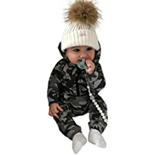 54320d04c Modaworld Monos para Unisex bebé Niñas Niños Manga Larga Otoño Invierno  2018 Monos de