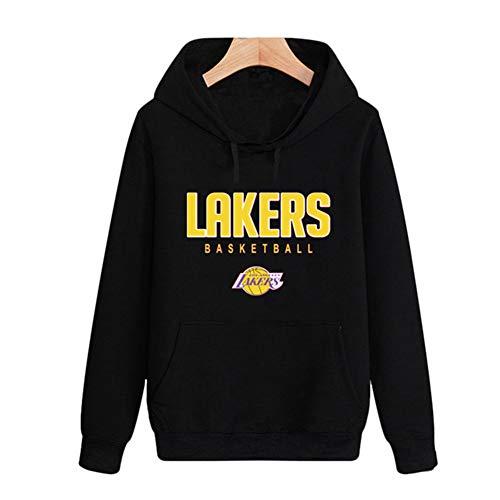 HS-QFQ Los Angeles Lakers Das Neue Mit Hut Super Star Basketball Reißverschluss Sweatshirt Lose Drucken Lange Ärmel Sport Und Freizeit,XL175~180CM