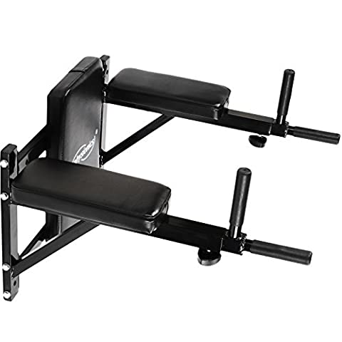 Physionics Dip Bars Wall Mounted Station for Abs and Back Exercise Home Gym Fitness (60/50/58-69 cm)