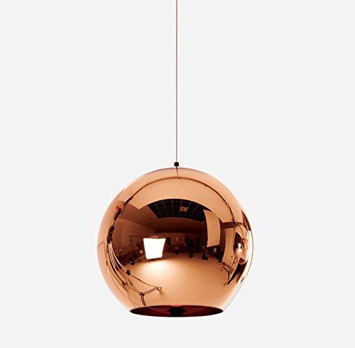 Bronzo colore moderno LED vetro Lampade a sospensione, spazio elegante di alta qualità i lampadari di placcatura palla luce Decor Living camera da letto cucina Cafe ristoranti uffici creativi appeso lampada diametro 45cm