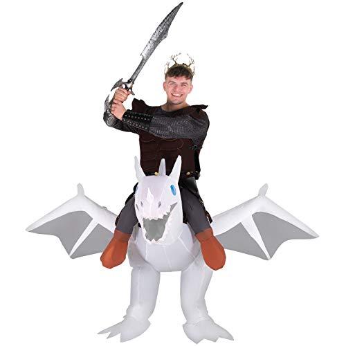 White Morph Anzüge - Morph Herren Ride on Kostüm, White