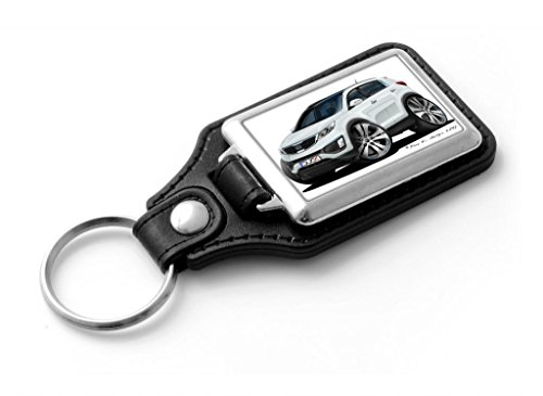 wickedartz-cartoon-car-kia-sportage-mk3-white-classic-style-key-ring