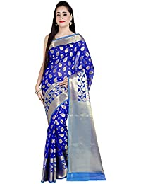 Chandrakala Women's Cotton Silk Banarasi Saree With Unstitched Blouse Piece