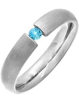 Theia Ring Titan Court Blaue Topaz Tension Matt
