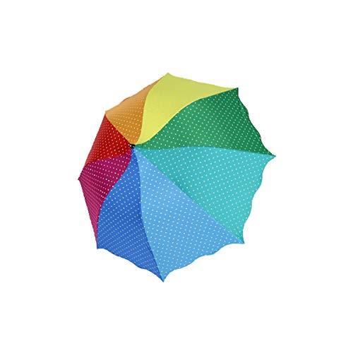 DaoRier Rainbow Wave Point de Voyage de Séchage Rapide Automatique Parapluie Pliable