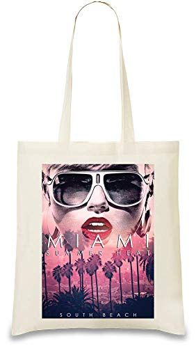Miami Beach South Beach Kalifornien lieben endlosen Sommer - Miami Beach South Beach California Love Endless Summer Custom Printed Tote Bag| 100% Soft Cotton| Natural Color & Eco-Friendly| Unique,