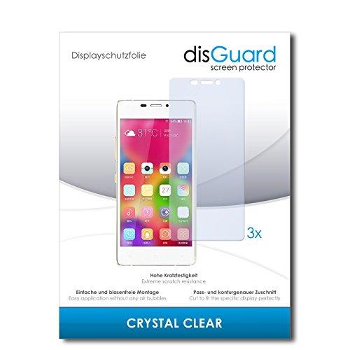 disGuard® Bildschirmschutzfolie [Crystal Clear] kompatibel mit Gionee Elife S5.1 [3 Stück] Kristallklar, Transparent, Unsichtbar, Extrem Kratzfest, Anti-Fingerabdruck - Panzerglas Folie, Schutzfolie
