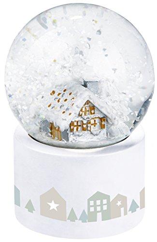 moses. Leuchtende Schneekugel Weihnachten mit Farbwechselbeleuchtung, Dekolicht, Glas, Weiß, 4.5 x 4.5 x 7.3 cm