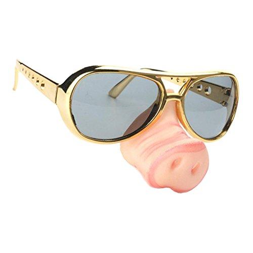 MagiDeal Lustig Partybrille Schwein Nase Sonnenbrille Tierkostüm Zubehör Kostüm Accessoire Partybrille Funbrille