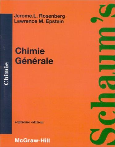 CHIMIE GENERALE. Cours et problèmes, septième édition