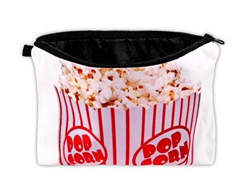 Kulturbeutel Kulturtasche Schminktasche Kosmetiktasche von Alsino, Variante wählen:KT-69 Popcorn