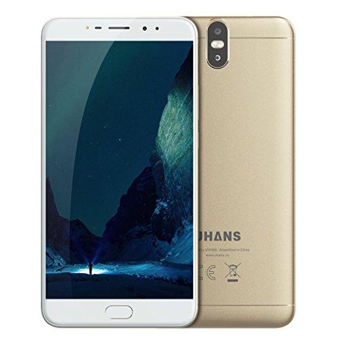 Smartphone Ohne Vertrag,Ulefone MIX2 4G Acht-Core Android 7.0 Handy mit Fingerprintsensor, 6,44 Zoll Bezelless Touchscreen Phone,13MP Frontkamera/13MP&5MP Dual Hinten-Kamera,4GB RAM+64GB ROM,3300mAh
