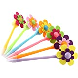 nuolux Blume Stifte 0,7mm Dekorative Sonnenblume Stifte Ball Stifte 6