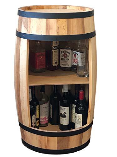 Weinschrank 81 cm Weinfass Weinregal, Naturholz, Whisky-Fasstisch