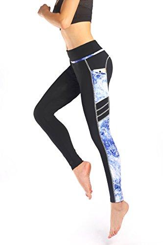 Munvot Tailored Geschenke Sport Leggings Damen Sporthose Fitnesshose Yoga Leggings Sporthose für Damen(Blau XXL)