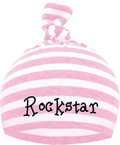 Baby Mütze (Farbe hellpink/weiss) (Gr. 0-18 Monate) Rockstar / ENGL