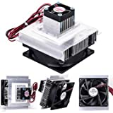easy electronics 12V Thermoelectric Peltier Refrigeration Cooler Fan and Heatsink Kit (Silver)