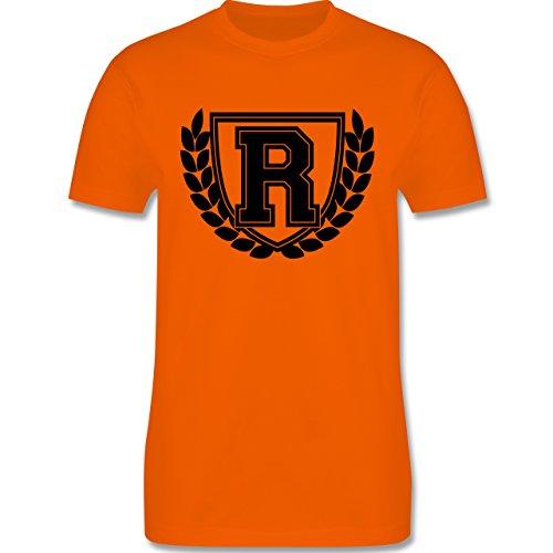 Anfangsbuchstaben - R Collegestyle - Herren Premium T-Shirt Orange