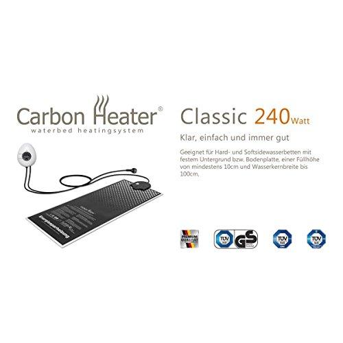 Carbon Heater Classic - 240 Watt - T.B.D energiespar Wasserbettheizung - hervorragend abgeschirmt