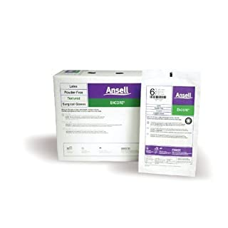 Encore Latex Sugical Gloves by Ansell Healthcare ( GLOVE, SURGICAL, LATEX, ENCORE, PF, 7.5 ) 50 Pair / box by Ansell Healthcare Products