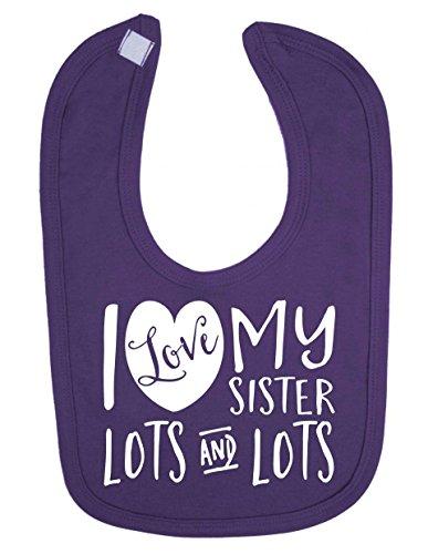 i-love-my-sister-lots-and-lots-cute-recin-nacido-beb-baberos-morado-morado