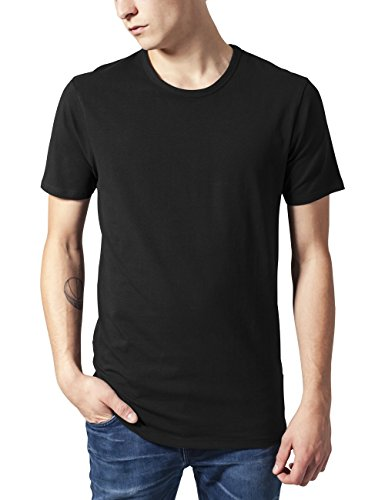 Urban Classics TB814 Herren T-Shirt Fitted Stretch Tee, Gr. Large, Schwarz (black 7) -