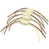 sourcing map 5Pcs 3 Pines Conector Macho Hembra Enchufe Cable Eléctrico para Coche