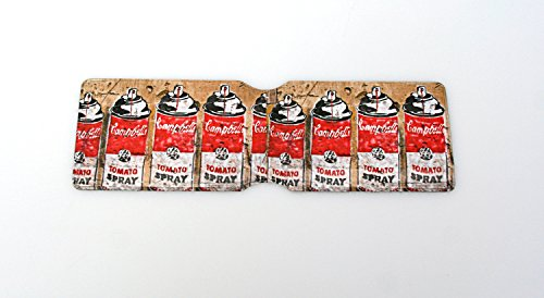 Kartenhalter, Design Campbell's Tomatensuppe, britische Oyster-Kartenhalter
