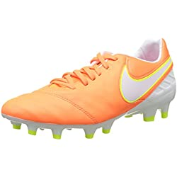 Nike Tiempo Legacy, Botas de fútbol para Mujer, Naranja (Tart/White-Volt-Hyper Pink), 40 EU