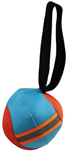 Perfecto Dog 1446 Hunde-Wasserspielzeug Ball mit Schlaufe, 10 cm, blau/orange