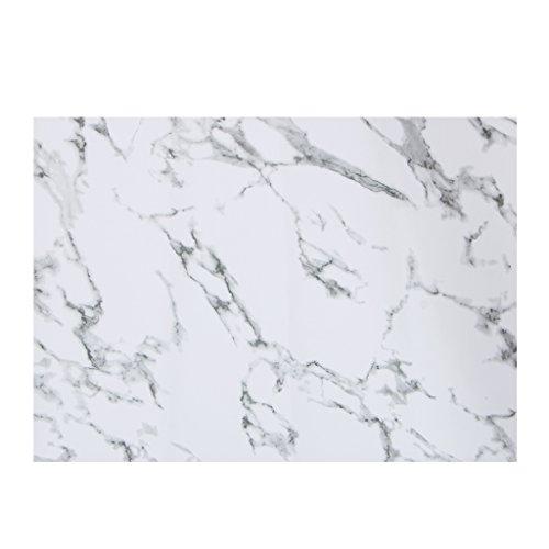 ZOOMY Tischset Pad Marmor Muster Streifen PVC Tischset Geschirr Untersetzer Tischset Home Küchentisch Dekoration Geschenk - Schwarz (Tischsets Zum Verkauf)