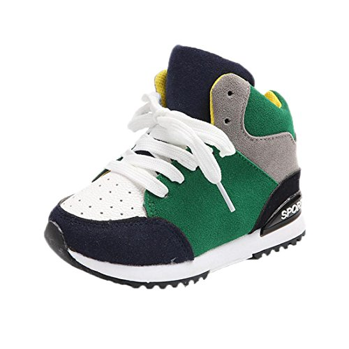 Turnschuhe Kinder Btruely Sport Laufen Schuhe Kind Schuhe Pedal Sneakers (30, Grün)