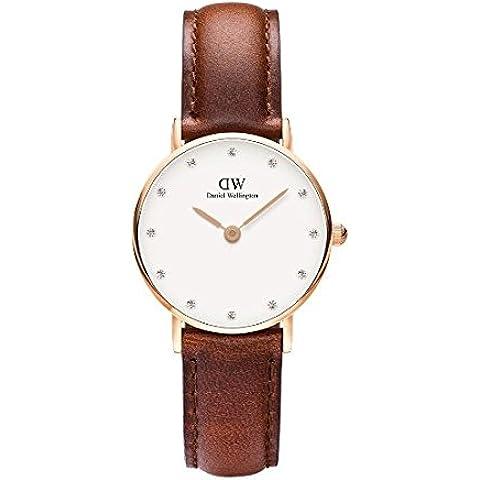 Daniel Wellington 0900DW - Reloj con correa de acero para mujer, color blanco / gris