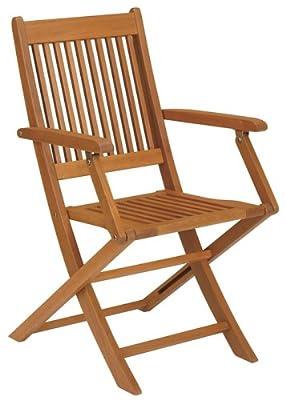 Strathwood Gartenmöbel - Basics Zusammenklappbarer Armlehnstuhl aus Hartholz, 2er-Set