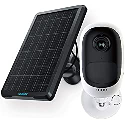 Reolink Argus Pro with Solar Panel Power and Rechargeable Battery, Wire-Free 1080P, Outdoor Indoor Security Camera, 2-Way Audio, IR Night Vision, PIR Motion Detection IP Cam (Solar Panel Included)