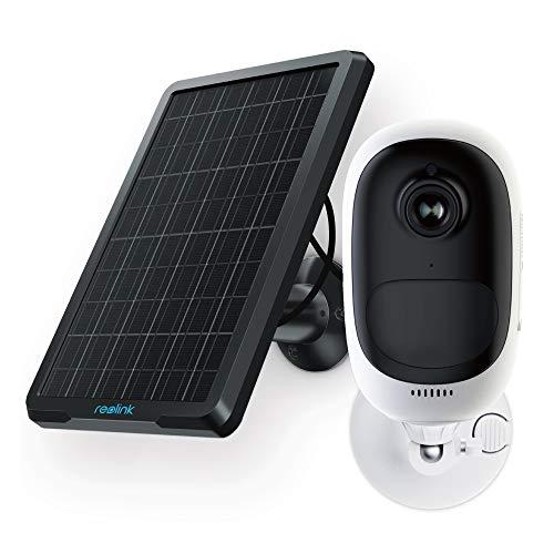 Reolink Argus Pro Akku Überwachungskamera Aussen WLAN mit Solarpanel, 1080p 2,4 Ghz WiFi IP Kamera kabellos mit Solarbetrieb, PIR-Bewegungsmelder, 2-Wege-Audio und SD Kartenslot.