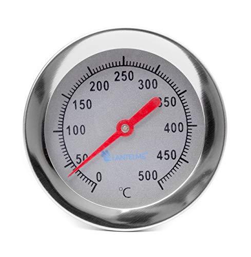 Lantelme 500 °C 30 cm Thermometer mit Gewindekonus zum Einbau in Pizzaofen Holzbackofen Steinofen Ofen Analog Bimetall 2098