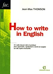 How to write in English